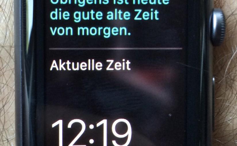 Aktuelle Zeit auf der Apple Watch