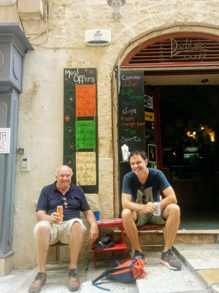Mit Papa auf Malta