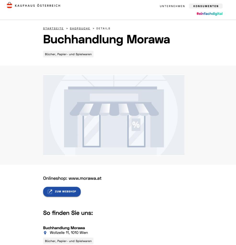 Kaufhaus Österreich - Händlerseite Morawa