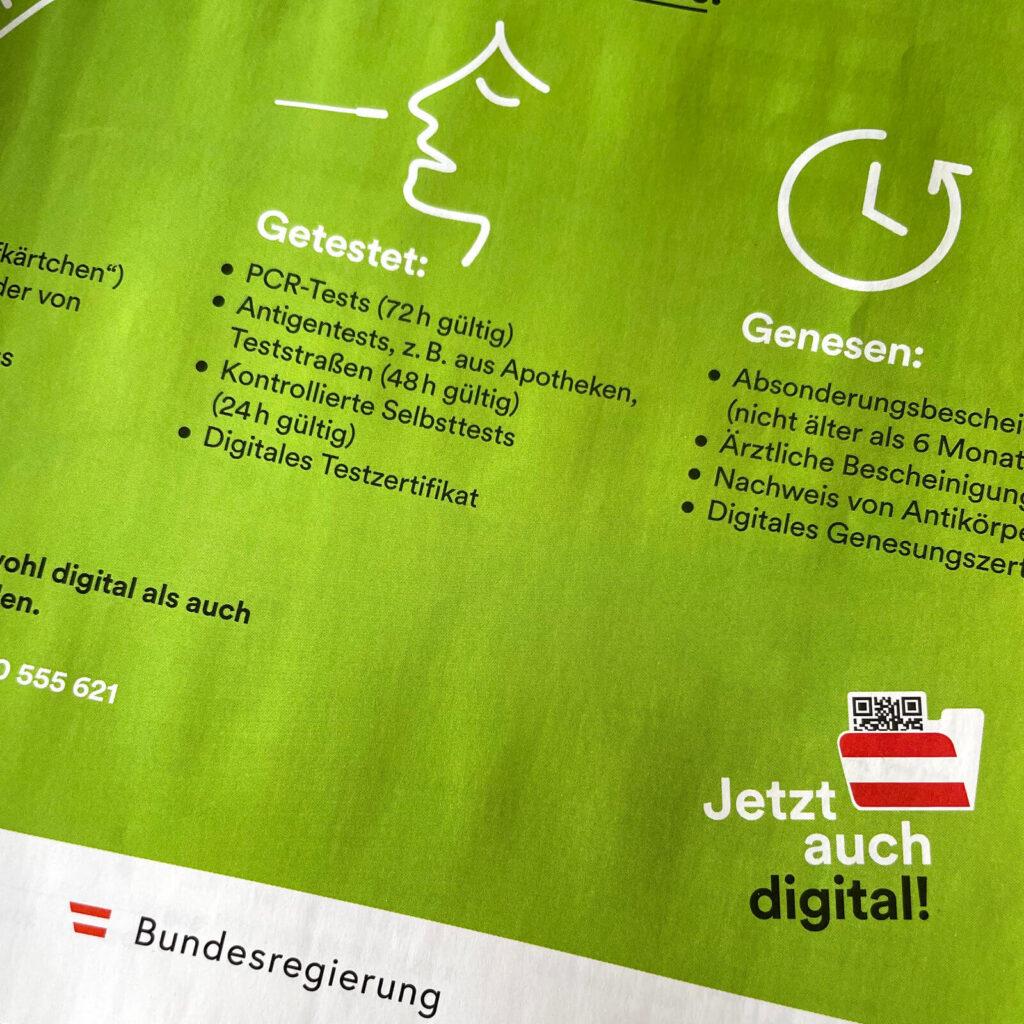 """Digitalisierung in Österreich, Inserat Juni 2021, Forbes Magazin, QR-Code im """"Mapperl"""" © Thomas Sommeregger"""